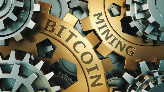 Concepto de minería de bitcoin