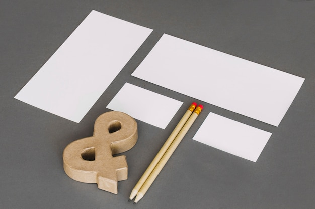 Concepto moderno de papelería