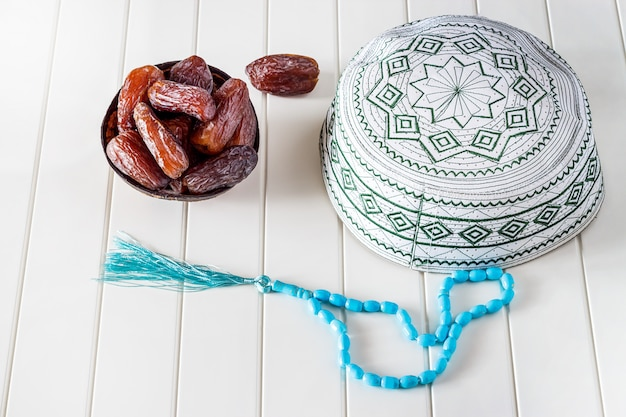 Concepto musulmán (islámico) taqiyah (casquete)