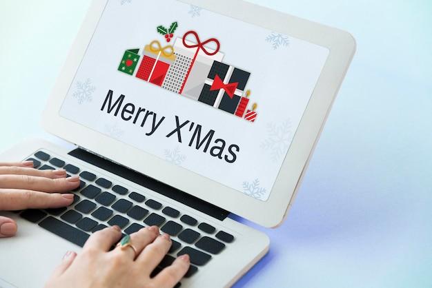 Concepto de navidad fiesta de celebración de navidad