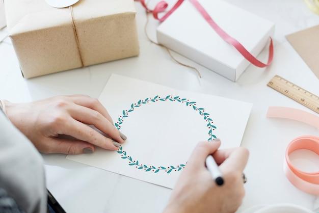 Concepto de navidad fiesta de celebración de saludos de navidad