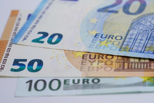 Concepto de negocio de billetes en euros