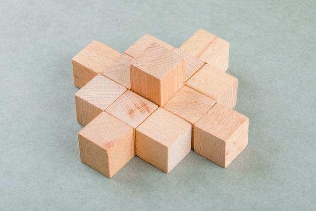 Concepto de negocio con bloques de madera
