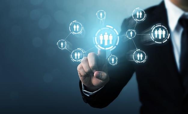 Concepto de negocio de empleo de gestión y contratación de recursos humanos