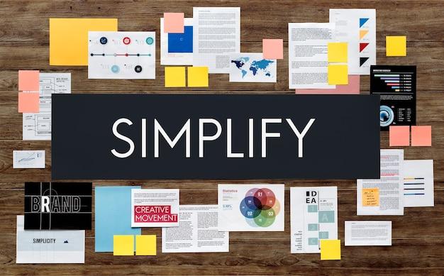 Concepto de negocio de estrategia de marketing de documentos