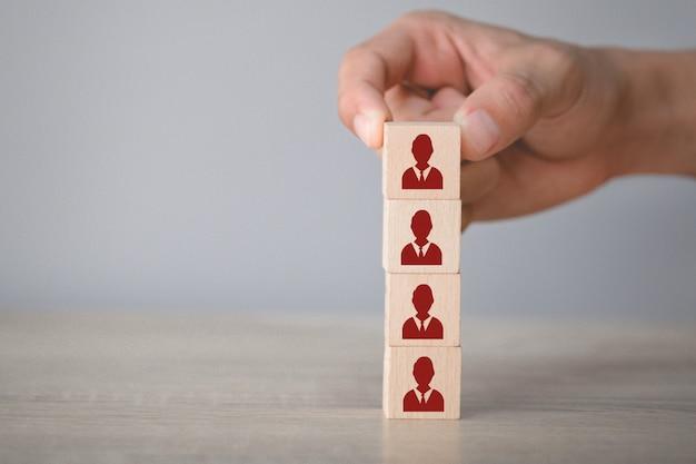 Concepto de negocio de gestión de recursos humanos y reclutamiento, estrategia comercial para tener éxito