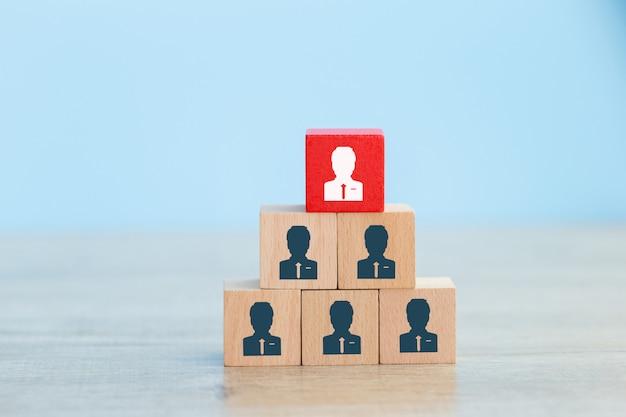 Concepto de negocio de gestión de recursos humanos y reclutamiento