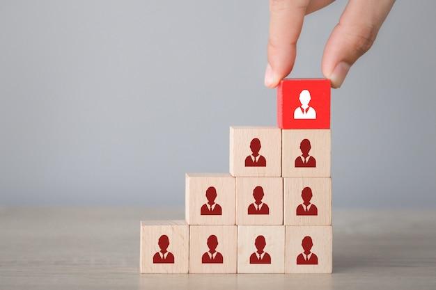 Concepto de negocio de gestión de recursos humanos y reclutamiento.