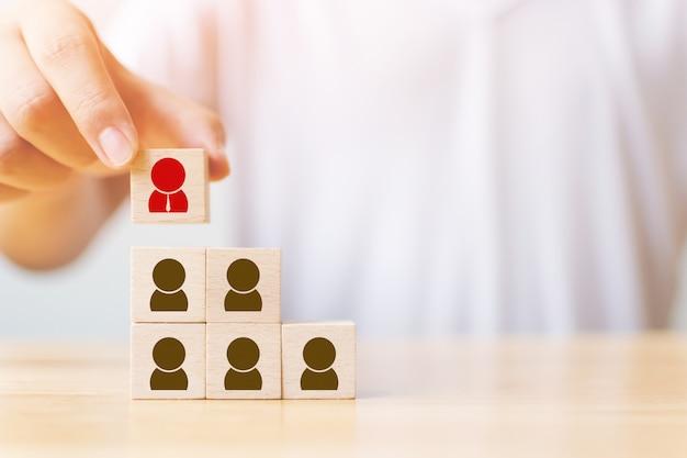 Concepto de negocio de gestión de recursos humanos y talento y reclutamiento
