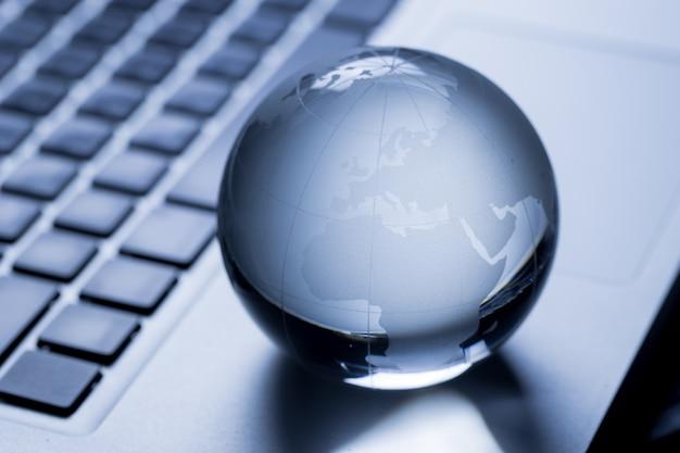Concepto de negocio global e internacional.