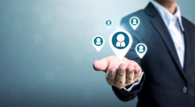 Concepto de negocio de recursos humanos, gestión del talento y reclutamiento