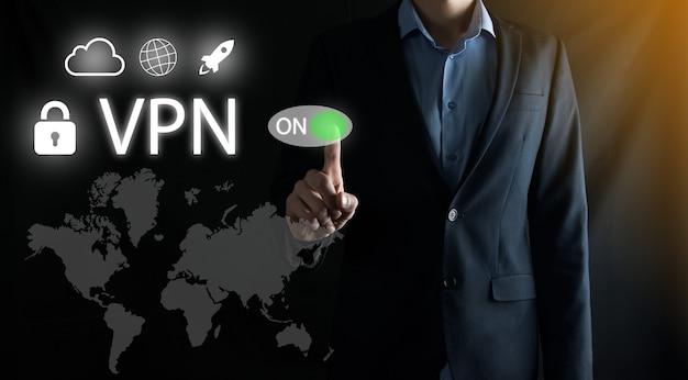 Concepto de negocio, tecnología, internet y red