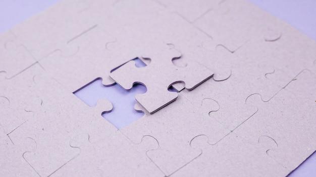 Concepto de negocios con puzzle