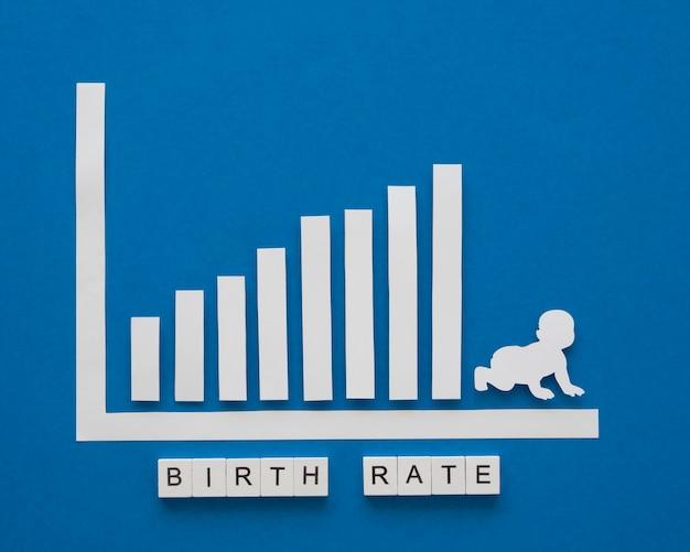Concepto de nivel de fertilidad de la tasa de natalidad