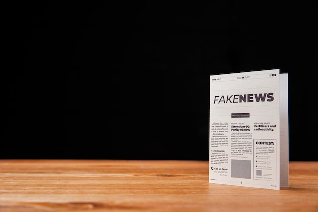 Concepto de noticias falsas