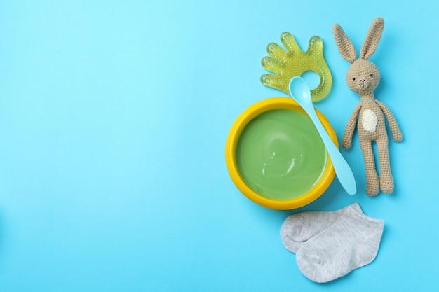 Concepto de nutrición o comida sabrosa para bebés