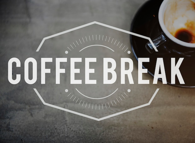 Concepto de ocio de tiempo de pausa para el café