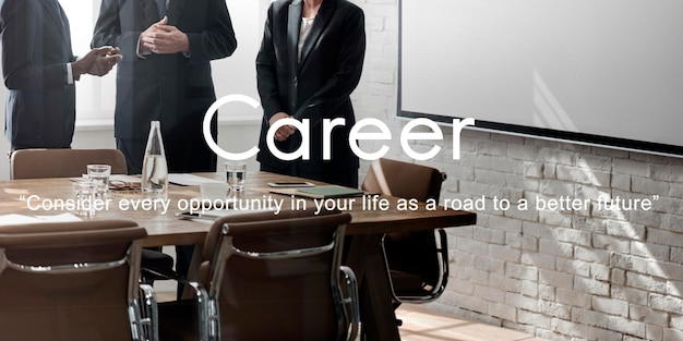 Concepto de ocupación de empleo de recursos humanos de contratación de carrera