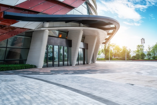 Concepto de oficina de construcción urbana en el distrito de negocios de construcción
