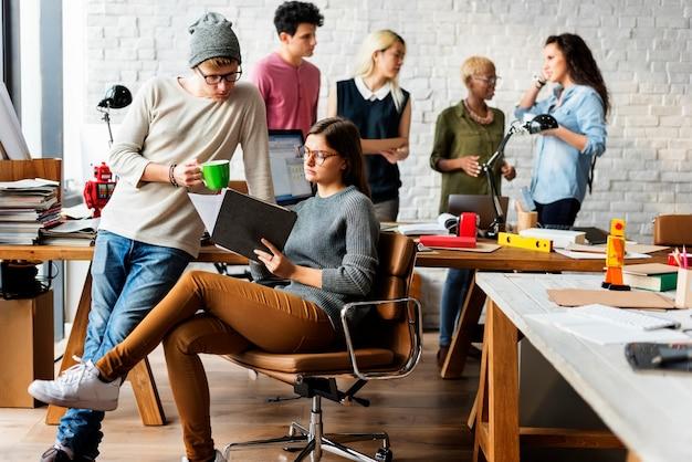 Concepto de oficina moderna