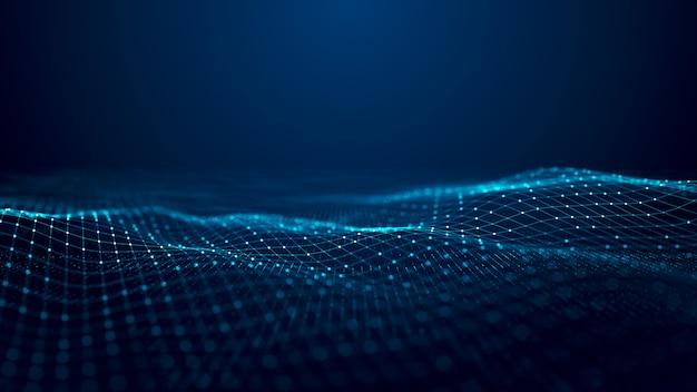 Concepto de onda digital de tecnología.