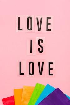 Concepto de orgullo gay el amor es amor