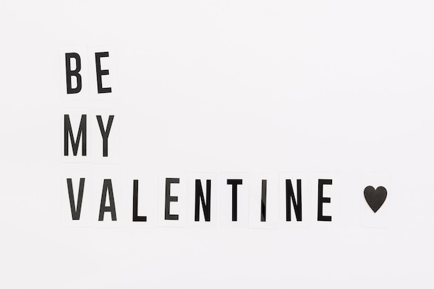 Concepto de orgullo gay be my valentine