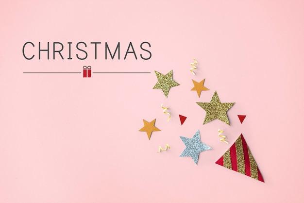 Concepto de oropel de celebración de árbol de navidad