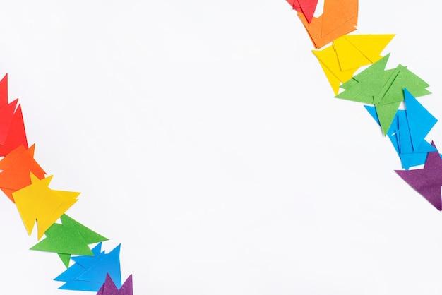 Concepto de papel origami para el día del orgullo