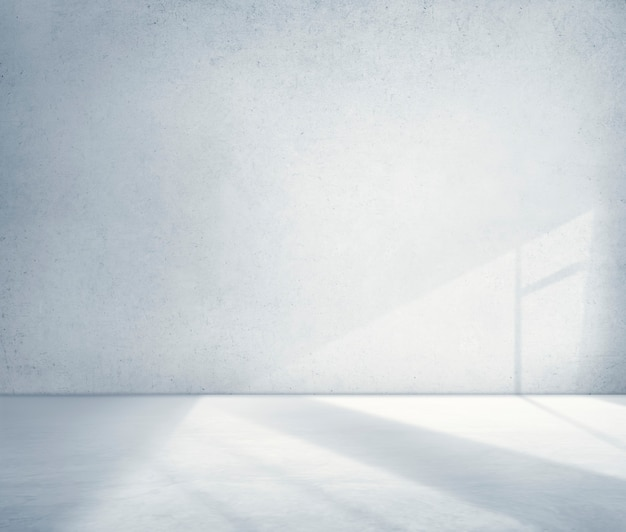 Concepto de papel tapiz de cemento de sombra de esquina de habitación de hormigón