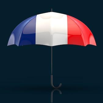 Concepto de paraguas - ilustración 3d