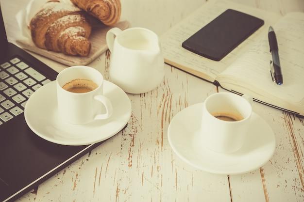 Concepto de pausa de café de negocios