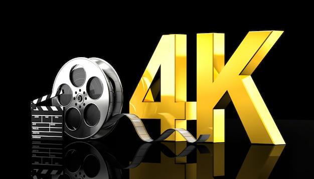 Concepto de película 4k