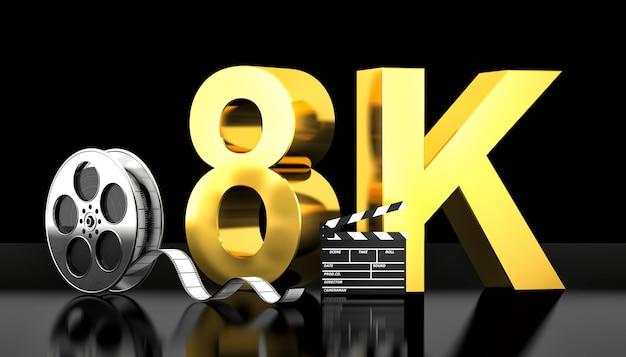 Concepto de película 8k