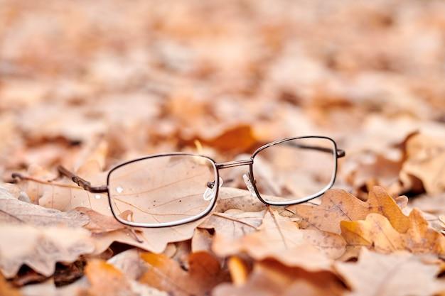 Concepto de pérdida de visión otoñal