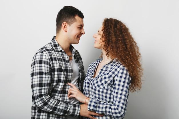 Concepto de personas, amor y relación.