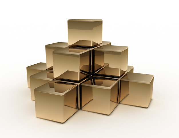 Concepto de pirámide abstracta 3d