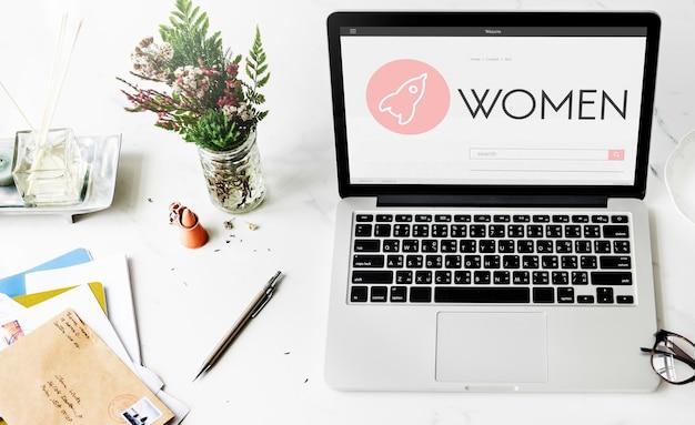 Concepto de plan de lanzamiento de nuevos negocios para mujeres