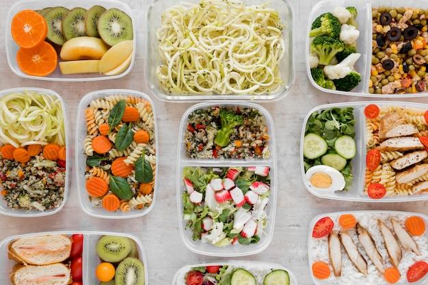 Concepto de plan de menú semanal