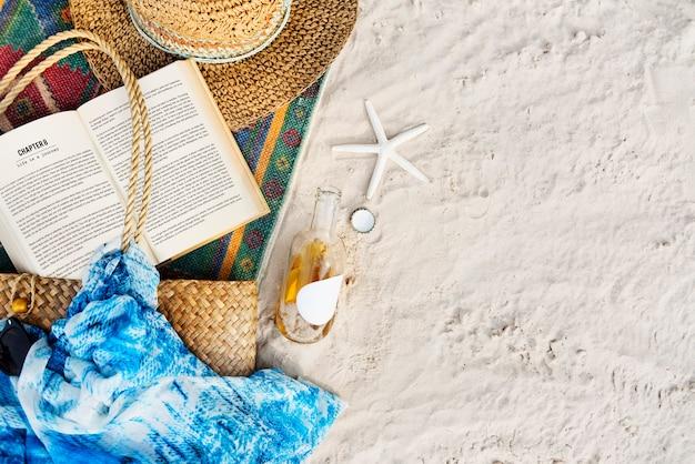 Concepto de playa de wanderlust de vacaciones de viaje de viaje de verano