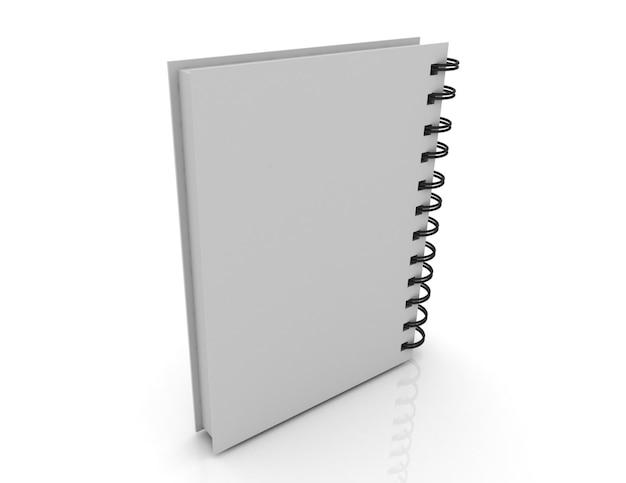 Concepto de portada de cuaderno en blanco