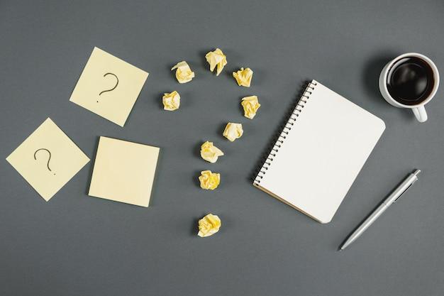 Concepto de preguntas, decisiones, preguntas frecuentes