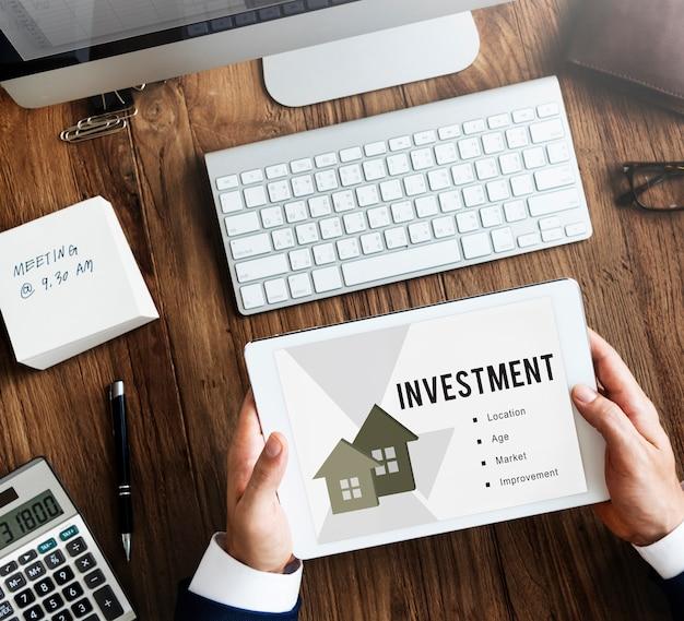 Concepto de préstamo hipotecario inmobiliario
