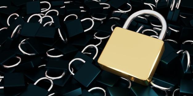Concepto de privacidad de tecnología empresarial de protección de datos de seguridad cibernética.
