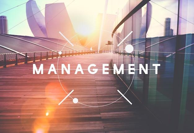 Concepto de proceso de estrategia de gestión de organización de gestión