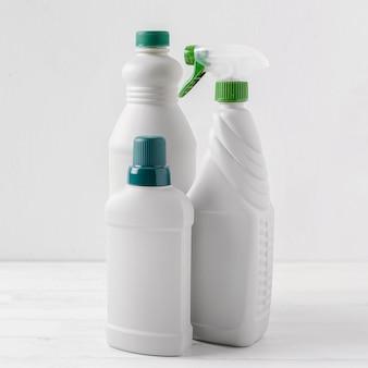 Concepto de productos de limpieza ecológicos