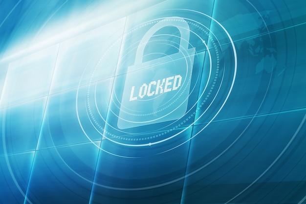 Concepto protegido con contraseña de tecnología digital