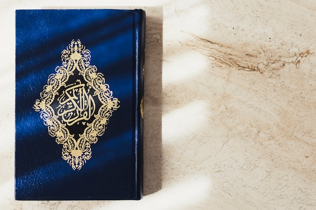 Concepto de ramadán con corán