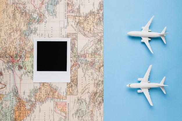 Concepto de recuerdos de viaje.