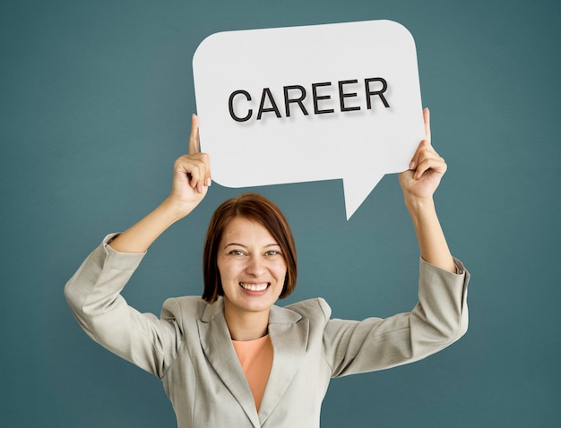 Concepto de recursos humanos de empleo de carrera de contratación